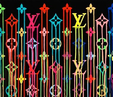 ZEVS   Liquidated Louis Vuitton -  Murakami Multico #1 (Performance at Cabaret Voltaire, Zurich), (2011)