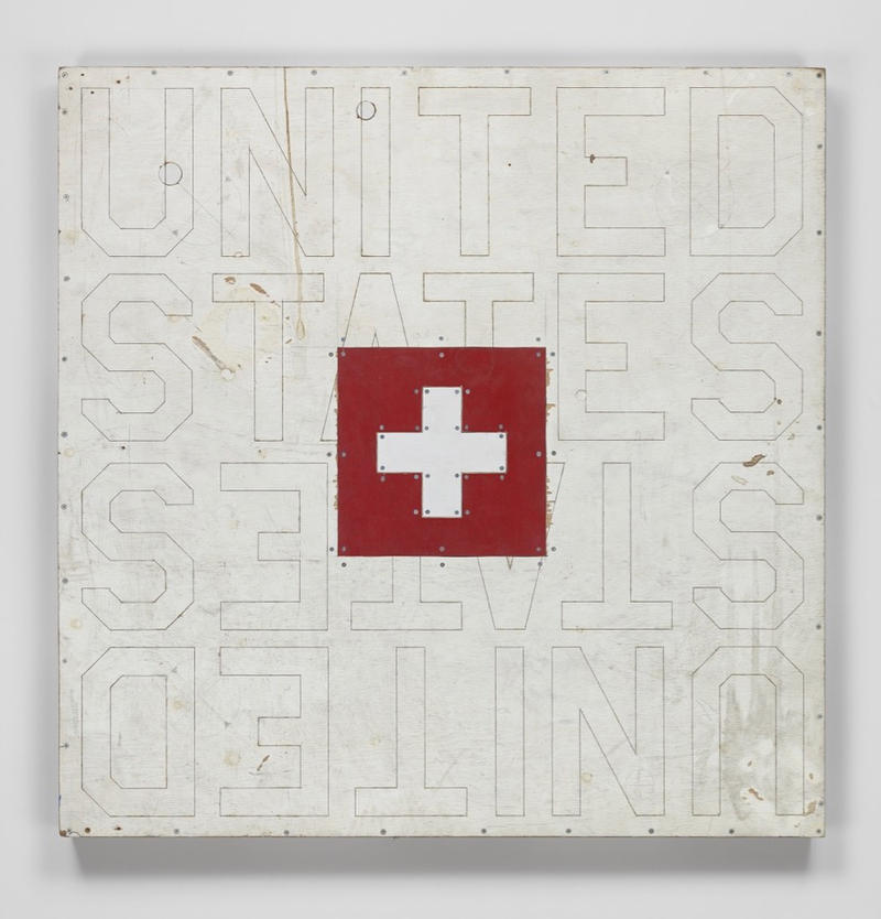 United States (2018) - TOM SACHSSynthetic polymer paint, steel, plywood48 x 48 x 1 3/4 inches(121.9 x 121.9 x 4.5 cm)© Tom Sachs