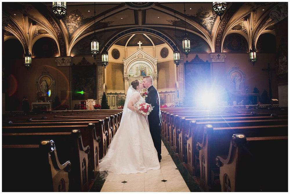 JEFF & MARIA - CHRISTMAS CATHOLIC WEDDINGNEW ALBANY, IN