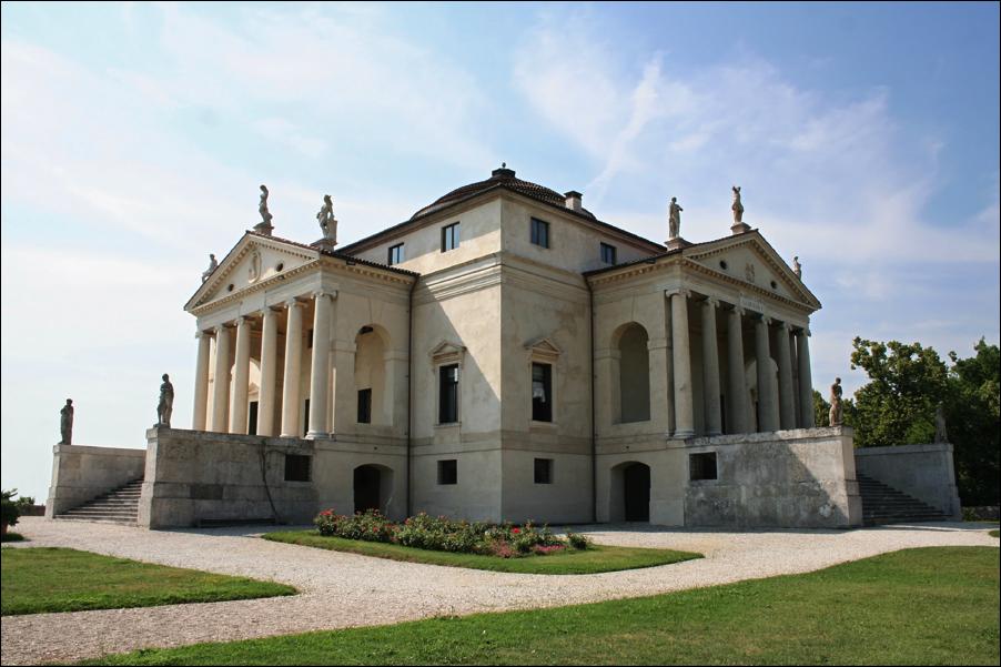Villa Capra ó La Rotonda. Diseñado porAndrea Palladio.Vicenza(Italia).