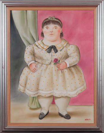 Niña con flor(1994).Fernando Botero|Museo Botero, Bogotá Técnica: Acuarela