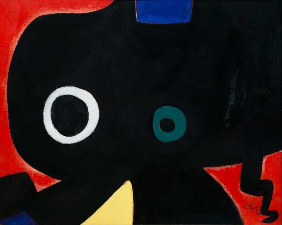 Personagge (1973). Joan Miró.Fundación Banco Santander Técnica: Öleo sobre lienzo