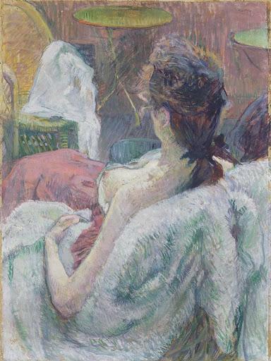 The Model Resting(1889).Henri de Toulouse-Lautrec .The J. Paul Getty Museum Técnica:Tempera o caseína con óleo sobre cartón