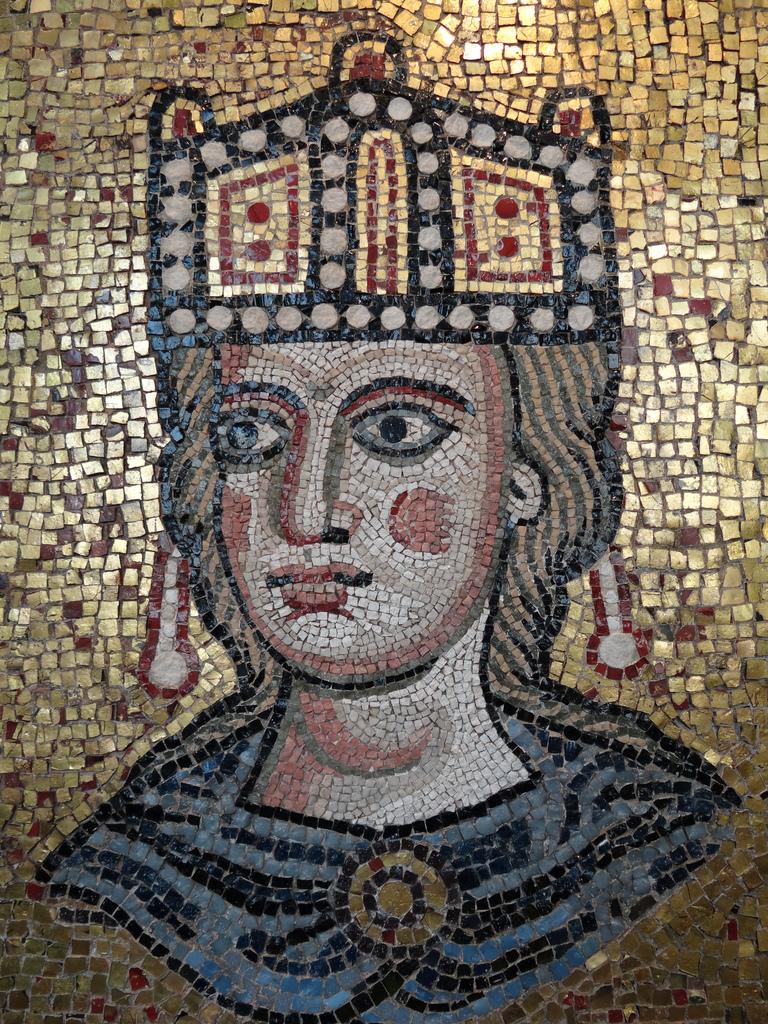 Archeologo.Ecclesia romana, XII sec. d.C., mosaico policromo. Basilica di San Pietro