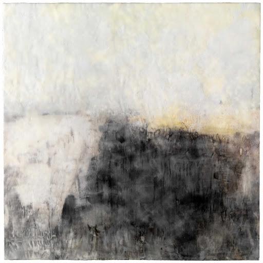 Crossing the Seine (2010).Kim Flora (American, b.1982)|Cincinnati Art Museum. Técnica: Encáustica, óleo y pastel sobre impresión digital lijado y manipulado en el panel