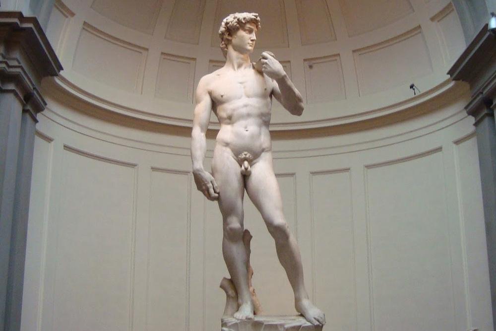 David (1501-1504).Miguel Angel Buonarroti.Galería de la Academia,Florencia.