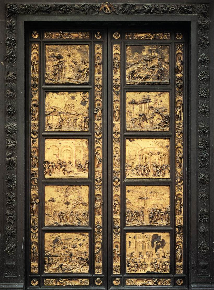 Puerta del Paraiso. Lorenzo Ghibert. Renacimiento Italiano.