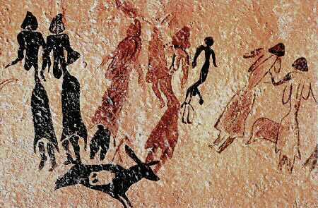 La Danza del Cogul. Calco deHenri Breuil.