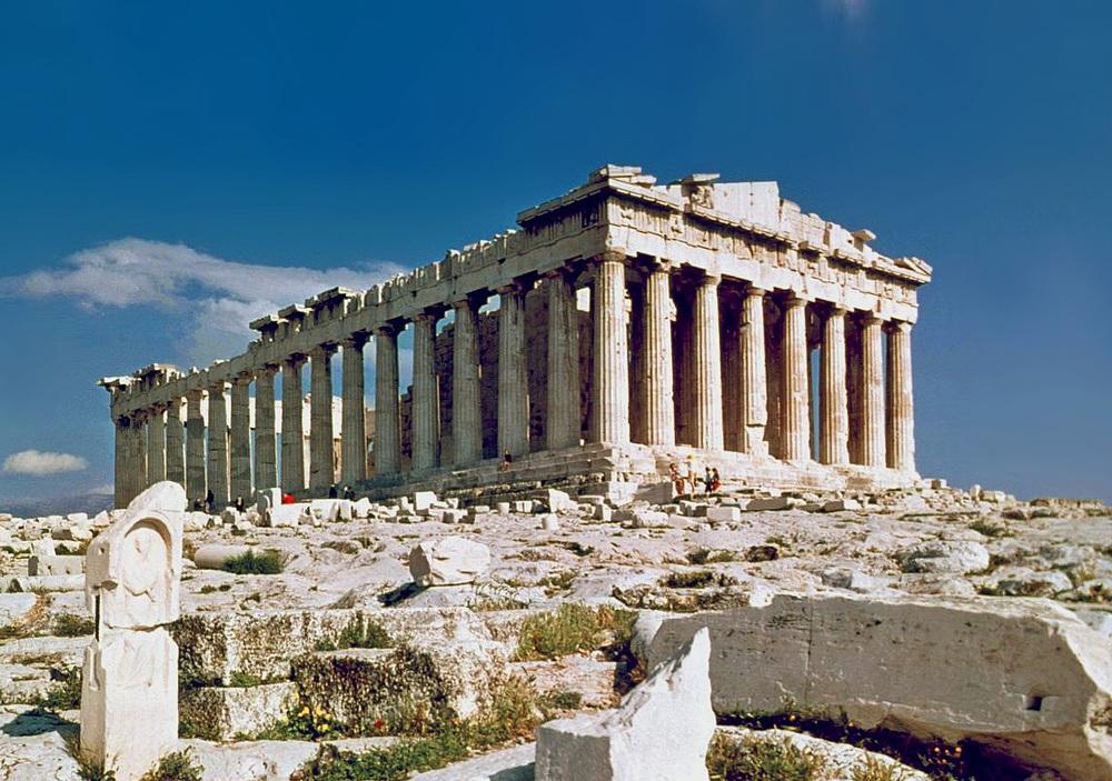 Partenón. Es uno de los principales templosdóricos, construido en la Acrópolis de Atenas.