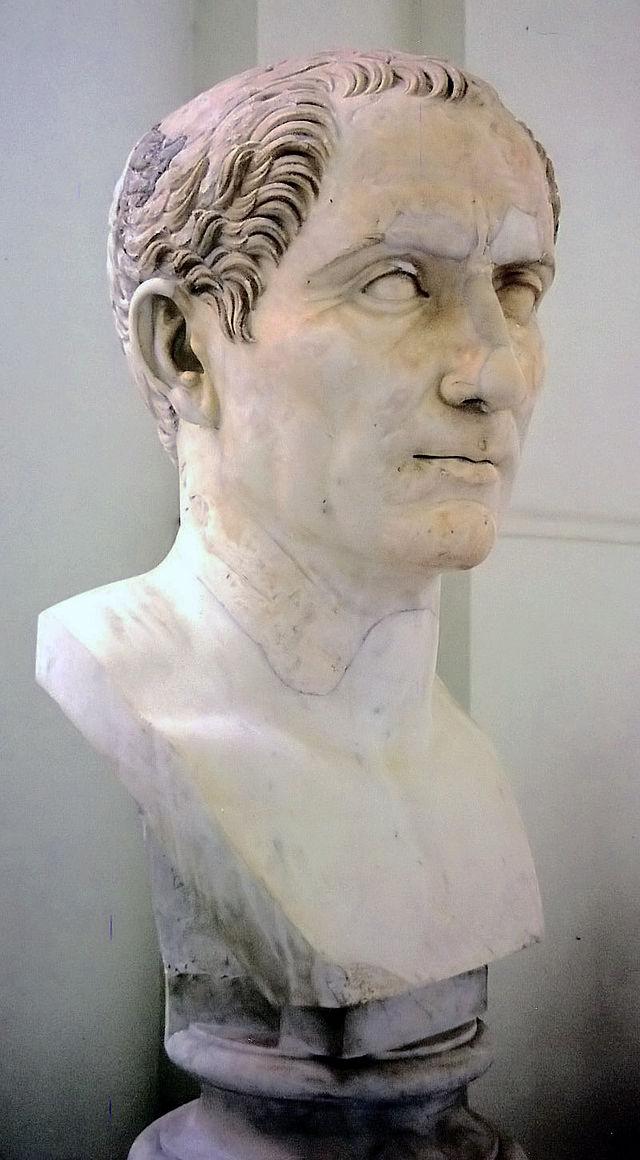Busto de Julio César en elMuseo Arqueológico Nacional de Nápoles.