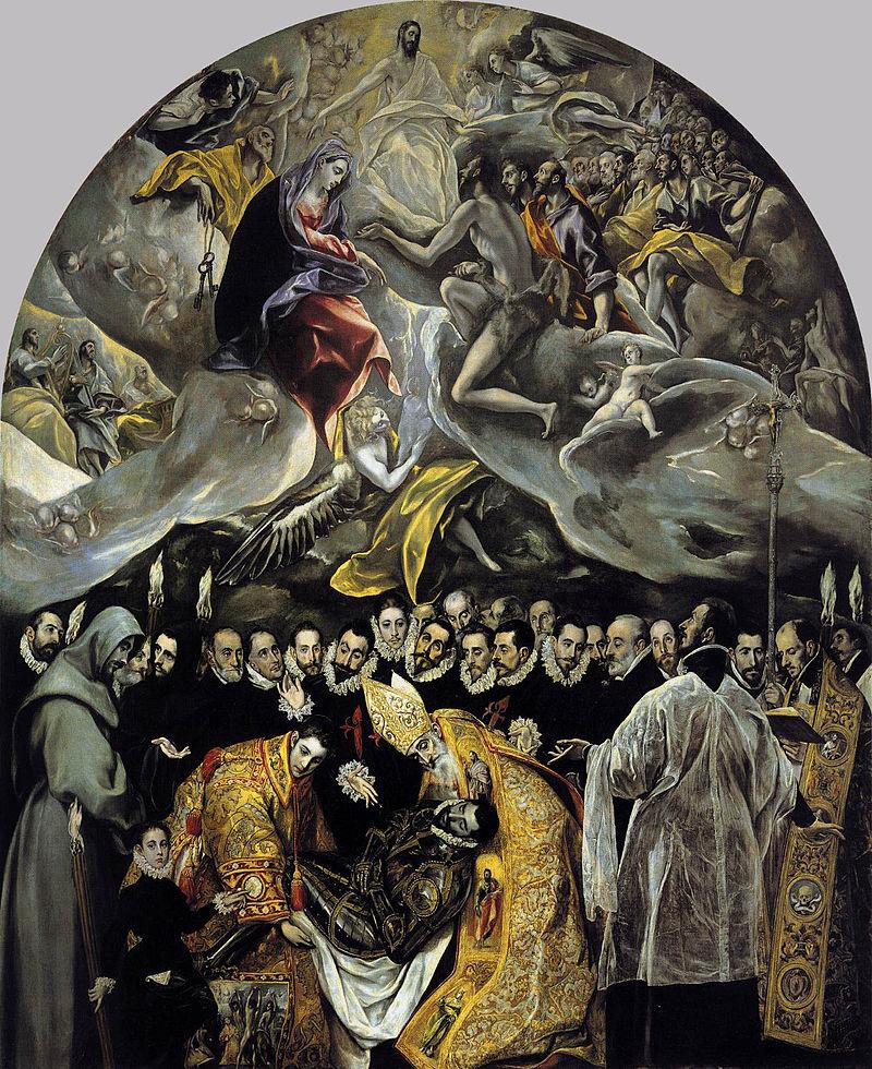 El entierro del señor de Orgaz.El Greco,1587.