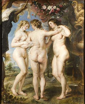 Las Tres Gracias. Peter Paul Rubens, 1636-1639. Museo del Prado,Madrid.