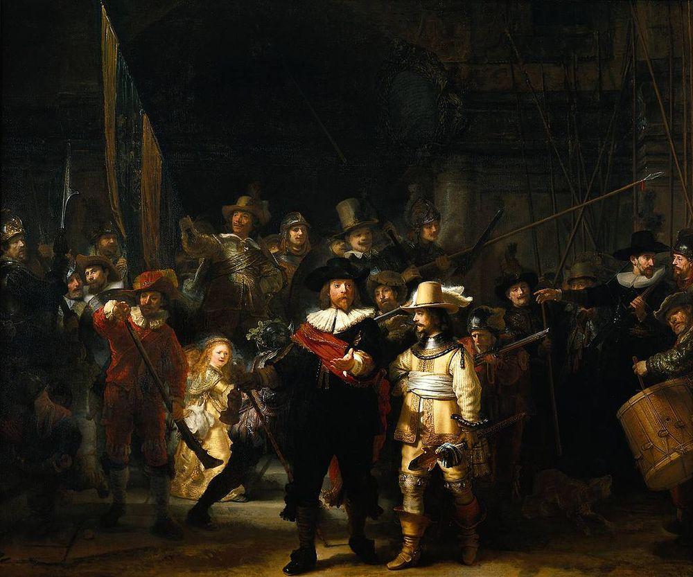 La Ronda de Noche. Rembrandt, 1642 Rijksmuseum. Ámsterdam.