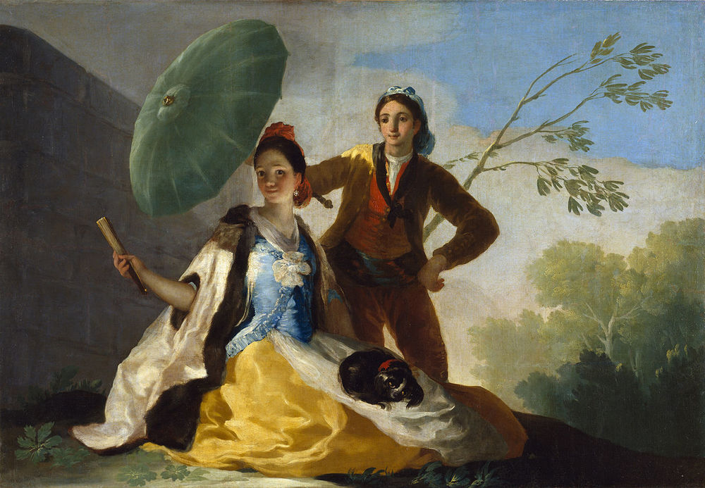 El quitasol Francisco de Goya,1777 Óleo sobre lienzo• Rococó.Museo del Prado.