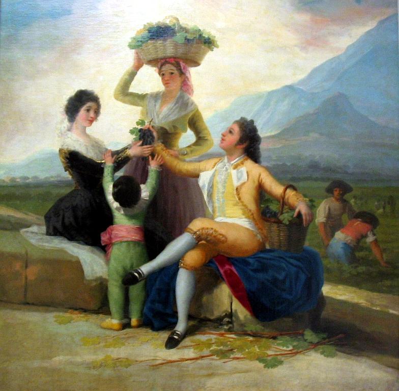 La vendimia ó El otoño Francisco de Goya, 1786-1787 Óleo sobre lienzo• Rococó.Museo del Prado.