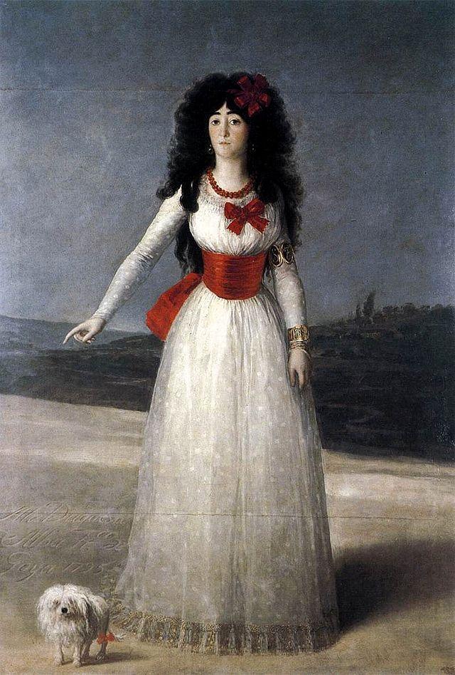 LaDuquesa de Alba de Tormes. Francisco de Goya,1795. Óleo sobre lienzo Palacio de Liria, FundaciónCasa de Alba.