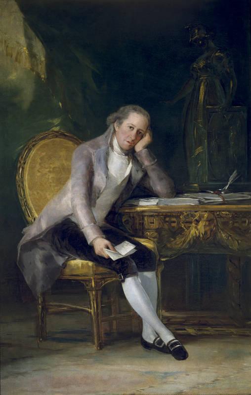 Gaspar Melchor de Jovellanos Francisco de Goya,1798 Óleo sobre lienzo Museo del Prado.