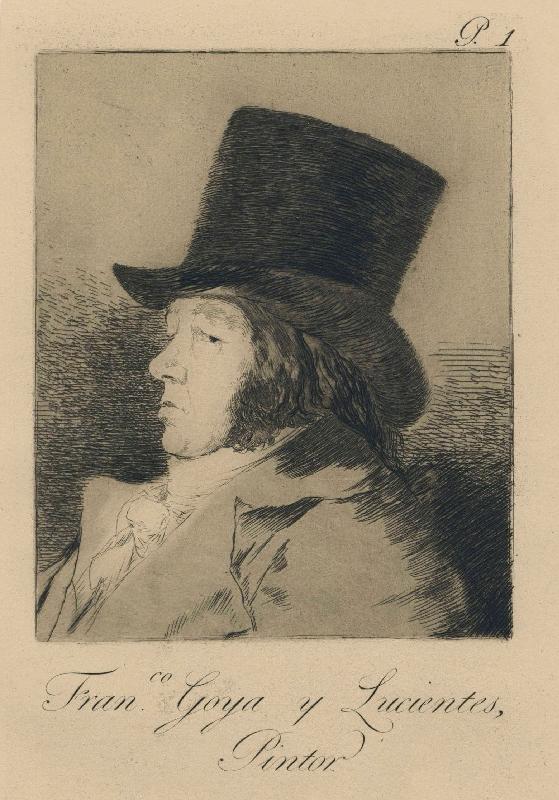 Autorretrato. Francisco Goya y Lucientes. Francisco Goya. Caprichos, nº 1, (1797-99). Museo del Prado.