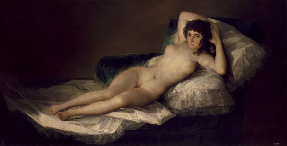 La maja desnuda Francisco de Goya, (1795 - 1800) Óleo sobre lienzo .Museo del Prado.