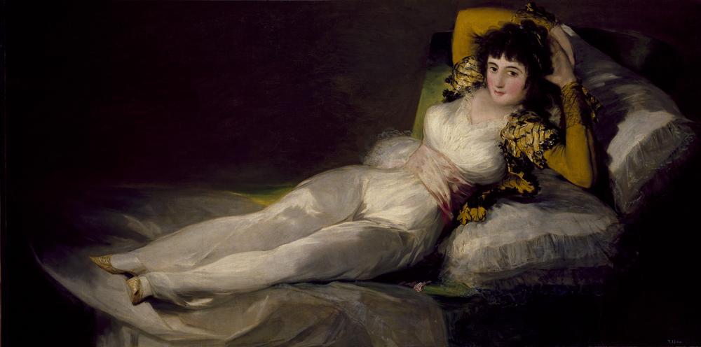 La maja vestida Francisco de Goya, (1800 - 1807) Óleo sobre lienzo .Museo del Prado.