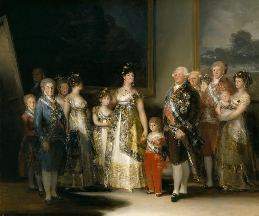 La familia de Carlos IV Francisco de Goya,1800 Óleo sobre lienzo .Museo del Prado.