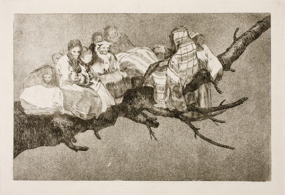 Ridículo. Francisco de Goya . Disparates,nº 3, (1815-19). Museo del Prado.