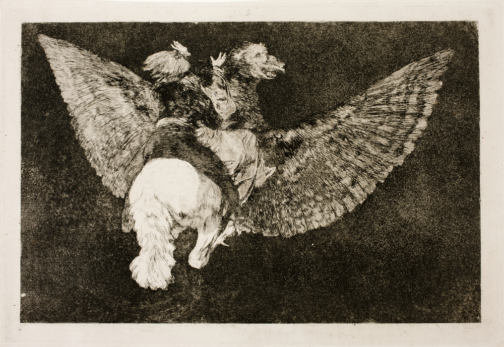 Volante. Francisco de Goya . Disparates,nº 5, (1815-19). Museo del Prado.