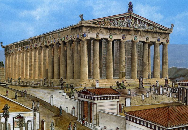 La arquitectura griega va por ustedes for Arquitectura griega templos