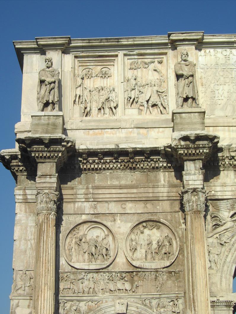 Arco de Constantino, detalle