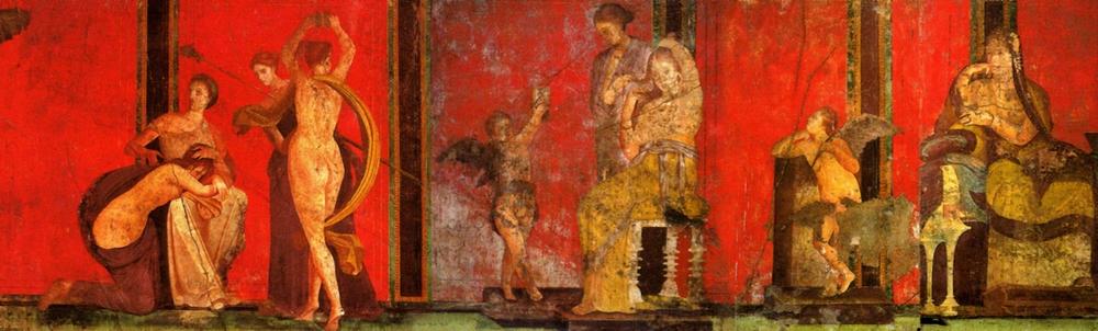 Frescos de la Villa de los Misterios .Pompeya.
