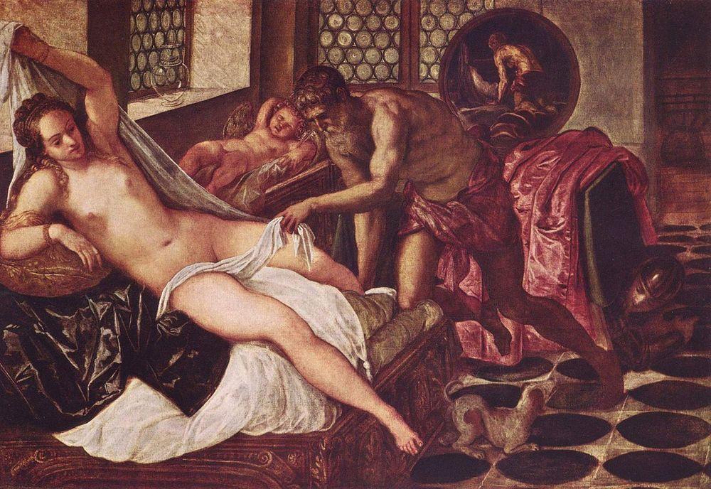 Venus, Vulcano y Marte. Tintoretto, Hacia 1555