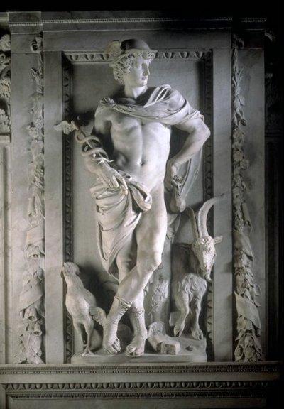 Mercurio, por el escultor flamenco del siglo XVII Artus Quellinus, Palacio Real