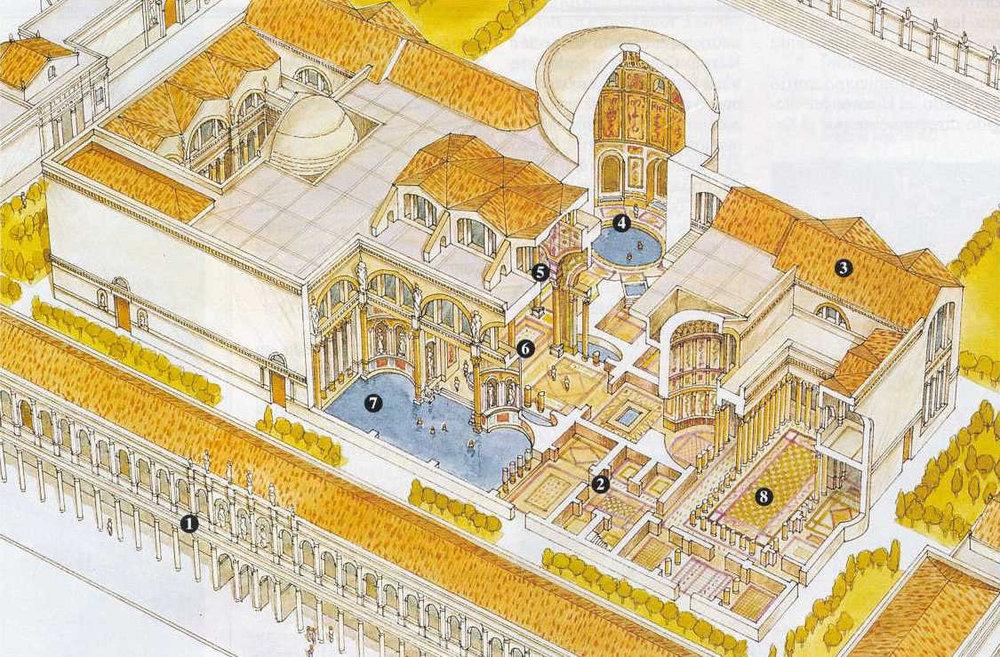 Termas Caracalla, reconstrucción