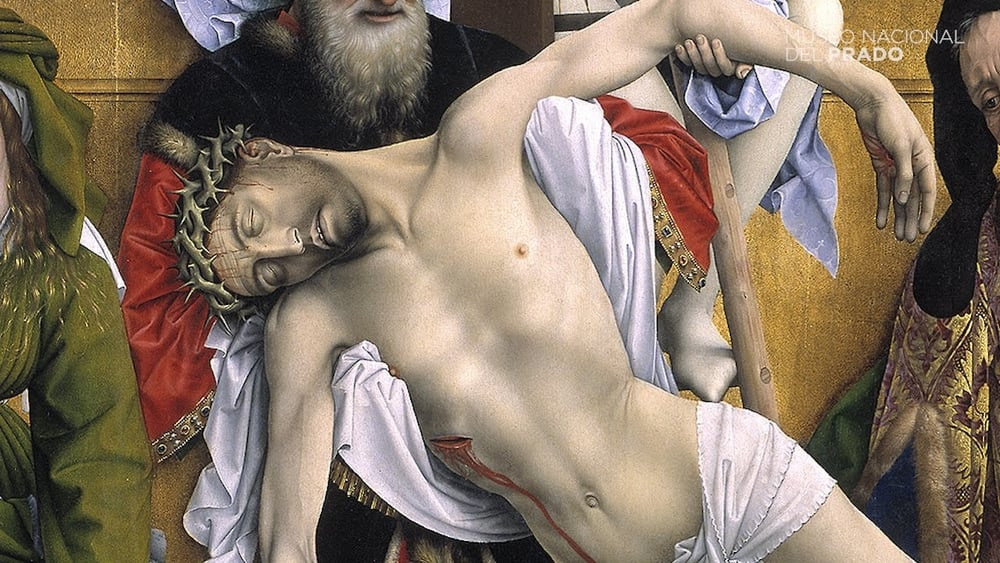 Detalle:Cristo bajado de la cruz.