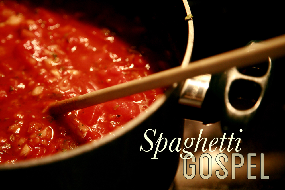 """The Spaghetti Gospel""   www.chereehayes.com   - Photo Credit, Joey Rozier:   http://bit.ly/1oJn8A7"