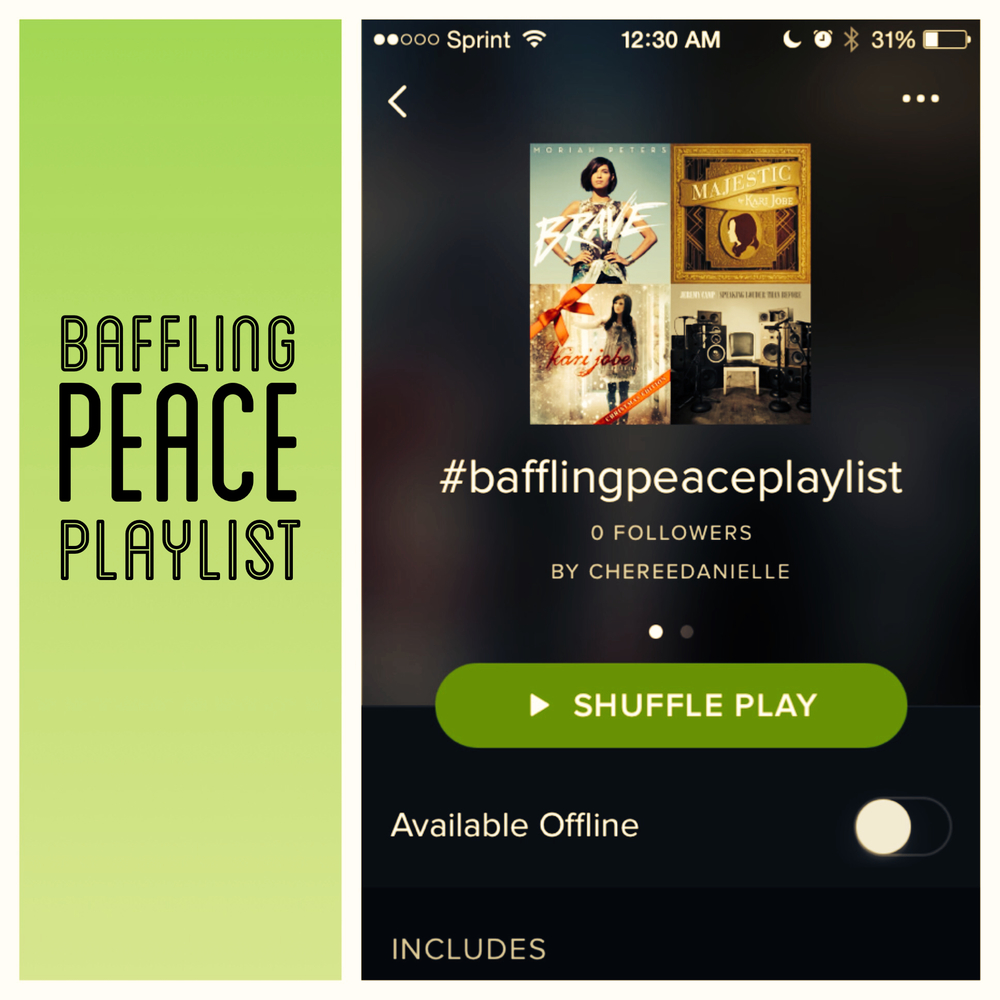 Plug in peace...    ** FREE BAFFLING PEACE PLAYLIST HERE **