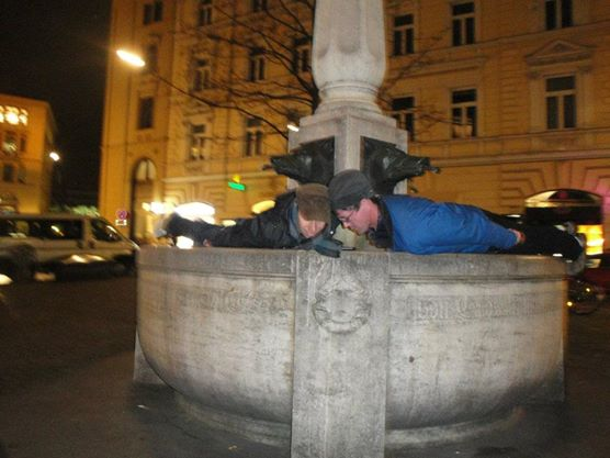 A meme moment:  Planking in Munich
