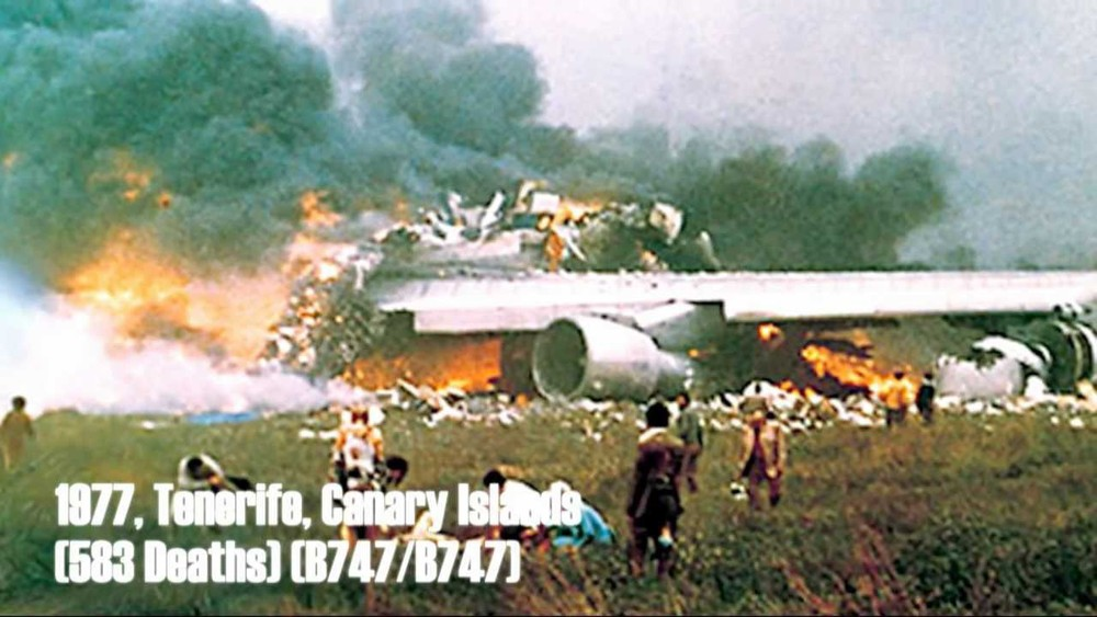 In 1977, the Tenerife Airport Disaster claimed 583 lives.