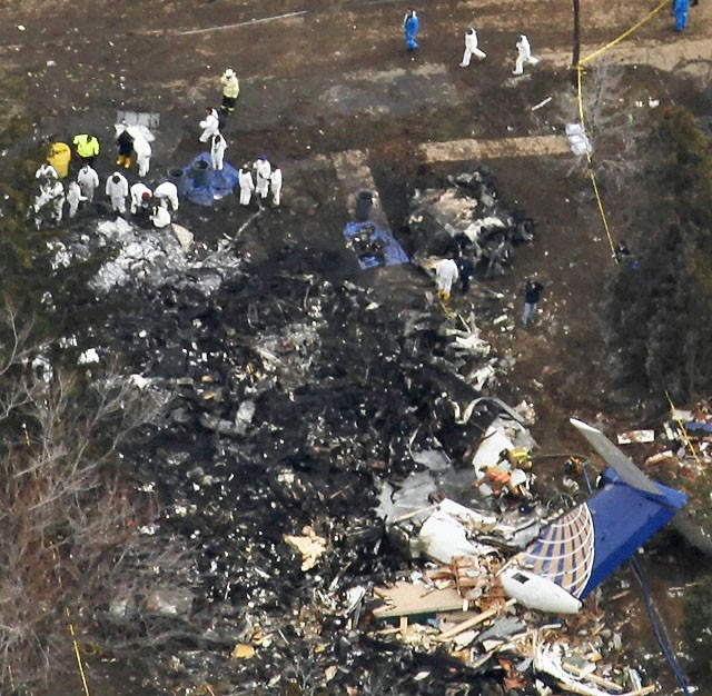 Colgain Air Flight 3407 crashed in upstate New York in 2009