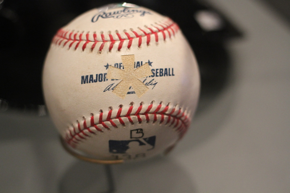 The ball that Barry Bonds hit for his record-setting 756th career home run has an asterisk etched into it by Marc Ecko, the fashion designer who bought the ball for $752,467. Photo: Dan Gaken, via Flickr and Creative Commons