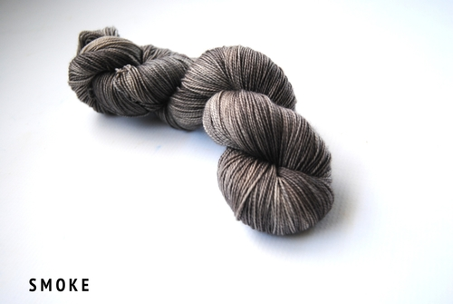 grey yarn: Smoke from NorthBoundKnitting