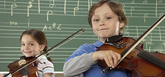 Clases de violín en grupo