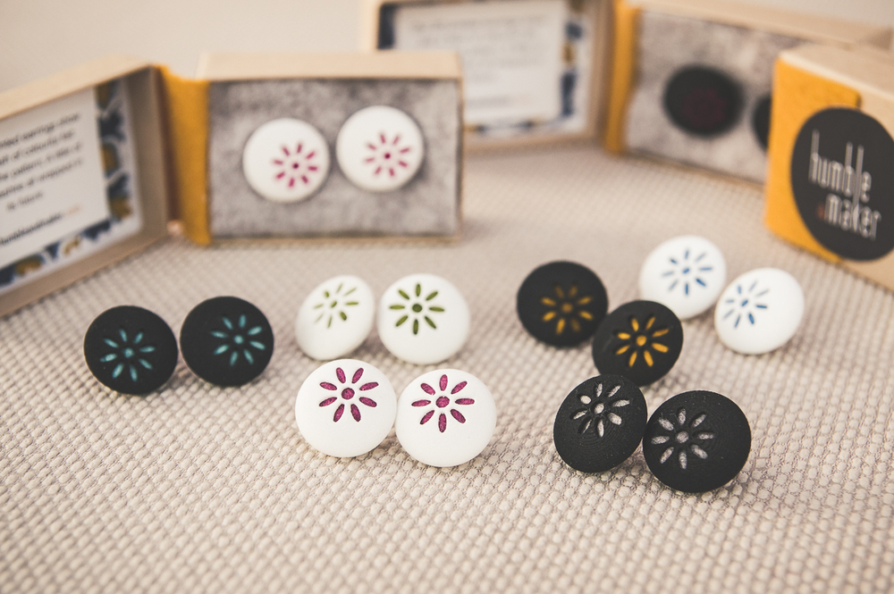 selection of 3D printed earrings