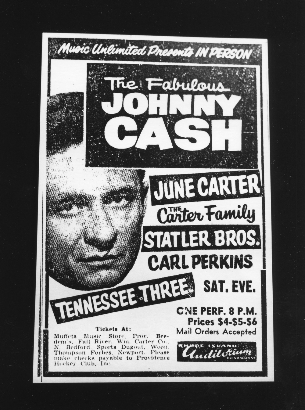 Fabulous Johnny Cash - Gelatin Silver Print