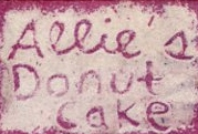 Allie's Donut Cake - Polaroid transfer