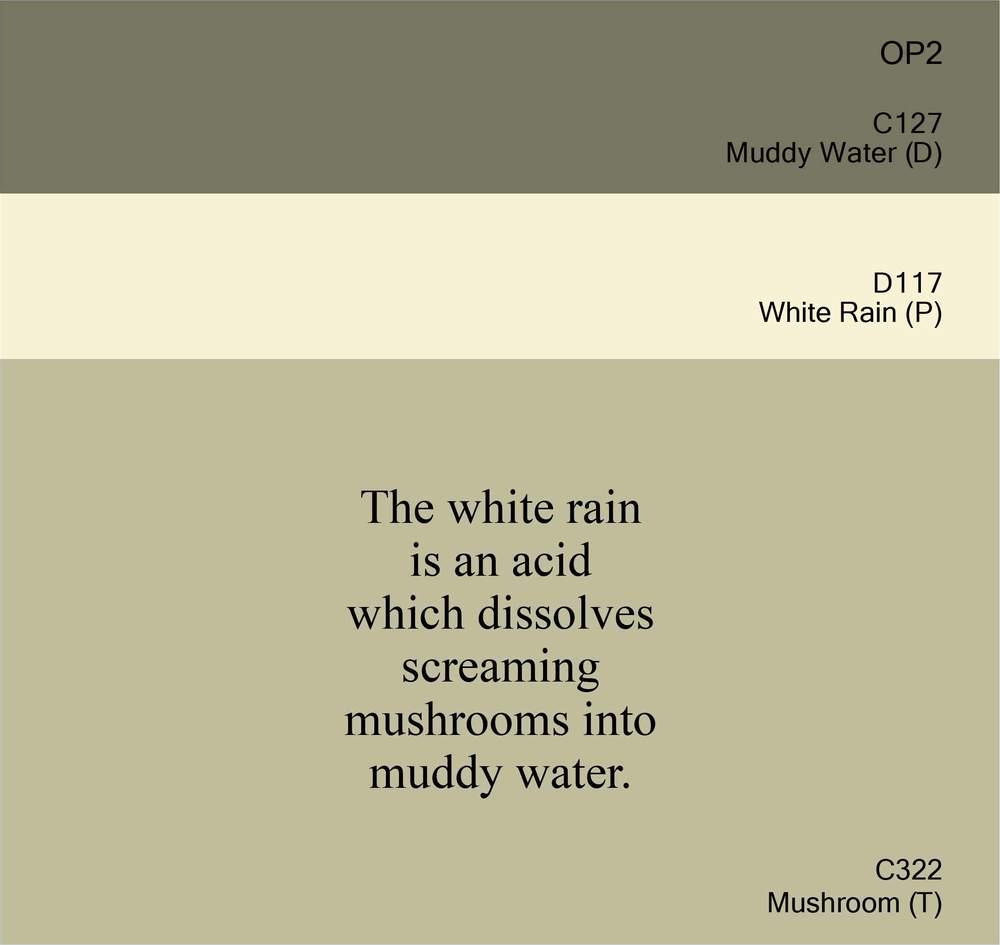 Muddy Water, White Rain, Mushroom II