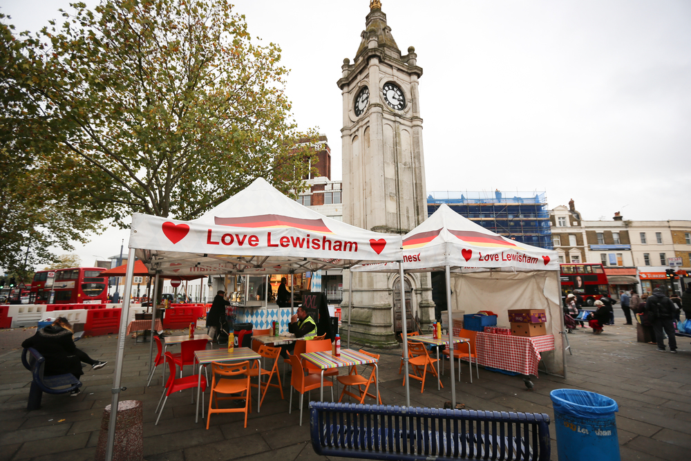 Love Lewisham food stand from Lewisham High Street