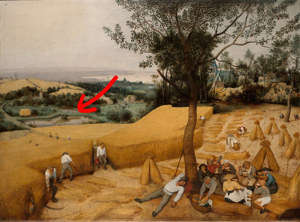 """Pieter Bruegel, """"Die Kornernte""""..."""