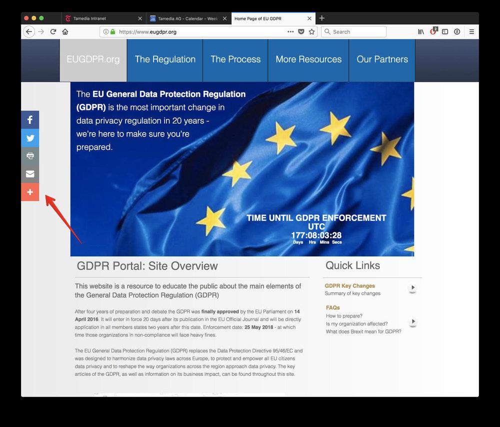 Datenschutz-Site der EU sammelt Daten.  Service für Ratsuchende wird zum Rohrkrepierer    SonntagsZeitung, 1. April 2018