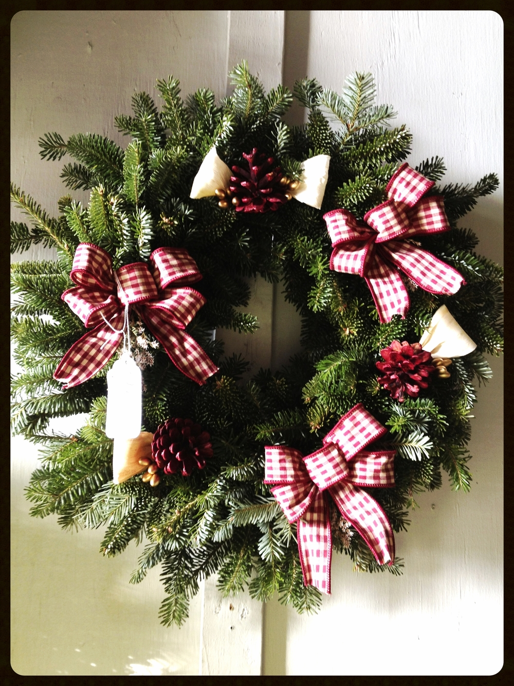 We Have A Large Variety Of Wreaths, Swags (Both Door And Window) And Tree Stands.